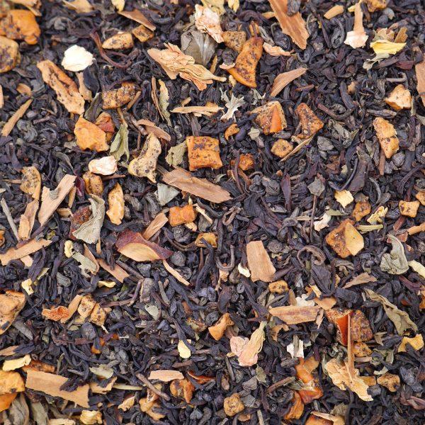 Té Verde con Manzana, Hierbabuena y Canela: Orvayu de Avientu